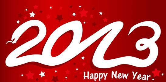 2013 happy new year logo