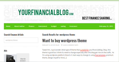 finance-blog-theme